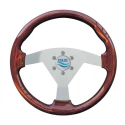 Steering Wheel type 63 Dia. 350 mm<br/>silver anodized centre Mahogany<br/>sport rim