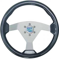 Steering Wheel type83 Dia.350<br/>silver anodized centre Carbon<br/>textured sport rim