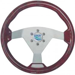 Steering Wheel type93 Dia.350<br/>silver anodized centre Radica/briar<br/>textured sport rim