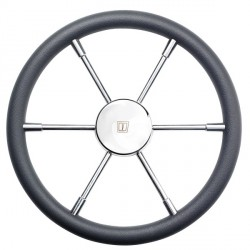 Steering wheel PRO40P Dia.400mm<br/>SS316 spoke & cap with Grey PU rim<br/>RAL7016 & synthetic hub
