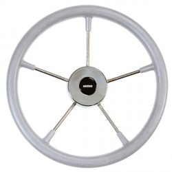 "<span class=""tooltip"">Steering wheel KS32G Dia. 320 mm<br/>SS316 spoke, cap & rim with Grey<br/>RAL704 PU foam layer (suitable for... 								<span class=""tooltiptext""> 									Steering wheel KS32G Dia. 320 mm SS316 spoke, cap & rim with Grey