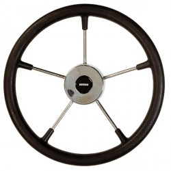"""<span class=""""tooltip"""">Steering wheel KS36Z Dia. 360 mm<br/>SS316 spoke, cap & rim with Black<br/>PU foam layer (suitable for... <span class=""""tooltiptext""""> Steering wheel KS36Z Dia. 360 mm SS316 spoke, cap & rim with Black PU foam layer (suitable for outboard engines up to 55HP) </span> </span>"""