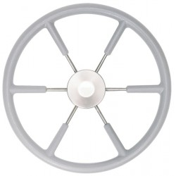 Steering wheel KS45G Dia.450mm<br/>SS316 spoke, cap & rim with Grey<br/>RAL704 PU foam layer