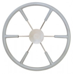 Steering wheel KS55G Dia.550mm<br/>SS316 spoke, cap & rim with Grey<br/>RAL704 PU foam layer