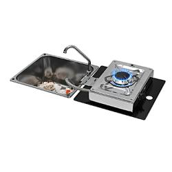 "Cooker Gas ""Foldy"" rectangle sink<br/>SS 1 semi-rapid burner foldable<br/>"
