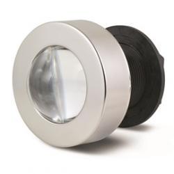 Flush mount docking lights - convex lens