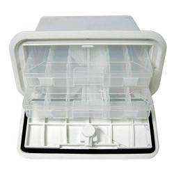 "Tackle Center 7"" x 14"" 2 tray 10<br/>deep Polar White<br/>"