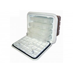 "Tackle Center 11"" x 15"" 3 tray 10<br/>deep Polar White<br/>"