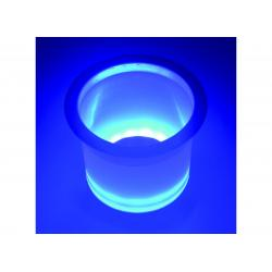 Holder drink Blue Led lighted with<br/>SS rim<br/>