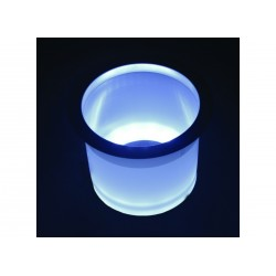 Holder drink White Led lighted with<br/>SS rim<br/>