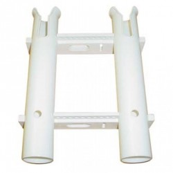 Rod holder rack removable 2pc units<br/>White HDPE material<br/>