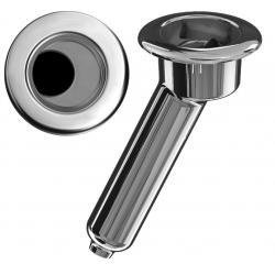 Elite Screwless Rod & Cup Holder w Drain (0-30 Deg Angle)