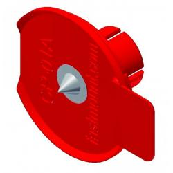 Center Point Insert - Red Plastic Large