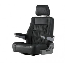 "Seat helm ""San Diego"" Black natural<br/>leather upholstery adjustable<br/>armrests, backrest & headrest"