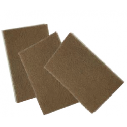 Scotch-Brite hand pad Tan 152mm x 2<br/>28mm for surface conditioning<br/>(heavy duty)