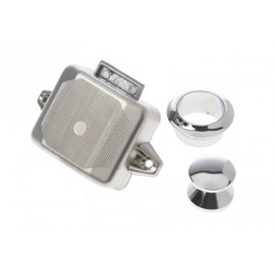 Push lock 54 x 45 x 20 mm chrome<br/>colour plastic<br/>