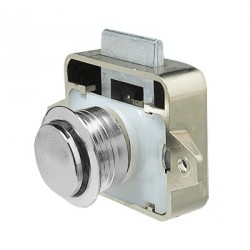 Lock LOCKDRC with push button<br/>Chrome plated plastic<br/>