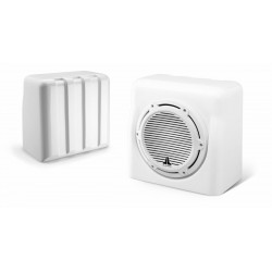 """Subwoofer 10"""" FS110-W5-CG-WH in<br/>White fibreglass sealed enclosure<br/>with classic grille"""