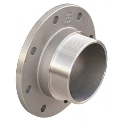PN6 flange with male thread nickel plated brass