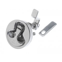 Latch compression Dia. 70 mm SS316<br/>electro polished (cut out<br/>Dia. 62 mm) without cam