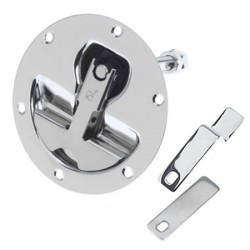 Compression latch Dia. 120 mm SS316<br/>electro polished (cut out<br/>Dia. 92 mm) without cam