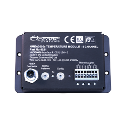 Sensor module temperature<br/>4 x type K thermocouple inputs<br/>NMEA2000 compatible