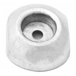 Single anodes with insert for rudders