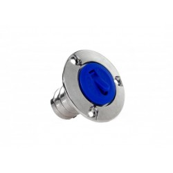 Deck filler water Blue plug Dia.<br/>38 mm anodized Aluminium/ Plastic<br/>