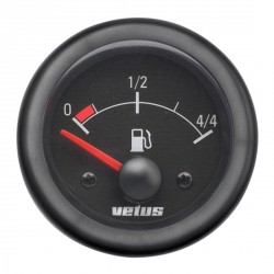 Gauge fuel level FUELB black 12/24V