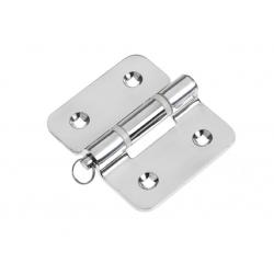 Hinge 82 x 92 mm heavy duty with re<br/>movable shaft SS304 electro<br/>polished