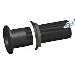 "Thru-hull fitting Long Black 3/4""<br/>BSP GRP<br/>"