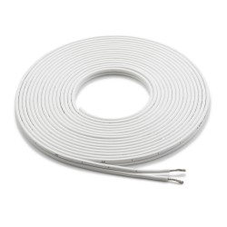 Cable-speaker 25ft White 12AWG