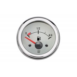 Gauge fuel level FUELW white 12/24V<br/>cut-out Dia. 52 mm excluding sensor<br/>