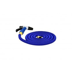 Hosecoil expandable kit with nozzle and storage bag