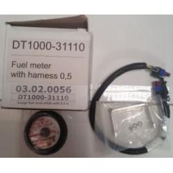 Gauge fuel level white with 0.5 m