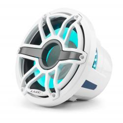 "Subwoofer 10"" M6-10W-S-GwGw-i-4 LED<br/>gloss white trim ring gloss white<br/>sport grille coaxial system"