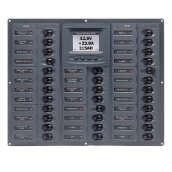 Panel M32-DCSM 12V 32 breaker<br/>Horizontal mount with digital meter<br/>Millenium series