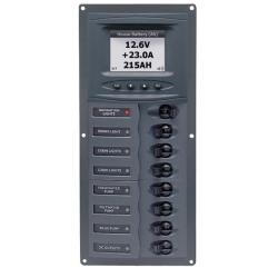 Panel 901V-DCSM 12V 8 breaker<br/>Vertical mount with digital meter<br/>