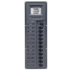 Panel 902-DCSM 12V 12 breaker<br/>Square mount with digital meter<br/>