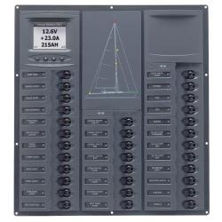 Panel NC32Y-DCSM 12V 32 breaker<br/>Vertical mount with digital meter<br/>Cruiser series