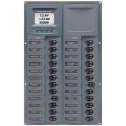 Panel 905-DCSM 12V 24 breaker<br/>Square mount with digital meter<br/>