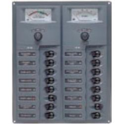 Panel 904-AM 12V 16 breaker<br/>Vertical mount with analog meter<br/>