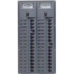 Panel 906V-AM 12V 32 breaker<br/>Vertical mount with analog meter<br/>