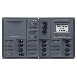 Panel 900-AC3-AM 230V 2 input+ 12<br/>load horizontal mount with<br/>analog meter