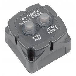 Breaker module 706-2W with 2x10A<br/>push to reset breaker<br/>
