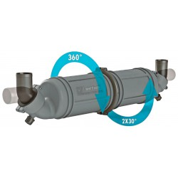 Waterlock / Muffler NLPH Dia. 40 mm<br/>hose connection rotatable<br/>