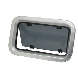 Porthole PZ651 375 x 166 mm cut-out<br/>anodized Aluminium frame with<br/>mosquito screen CE certified A-I