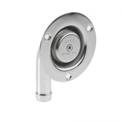 Vent SS304 19 mm angled screw mount<br/>electro polished for waste tank<br/>