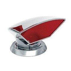 Ventilator cowl DON316R ID75 mm<br/>SS316 with red interior air flow<br/>area 44.2 cm2 includes ring & nut