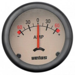 Ammeter AMPW cream 12/24V (+/- 60A)<br/>cut-out Dia. 52 mm with built-in<br/>shunt